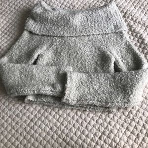 Off shoulder light gray sweater